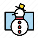 scarf, snow, snowman, winter, x-mas icon