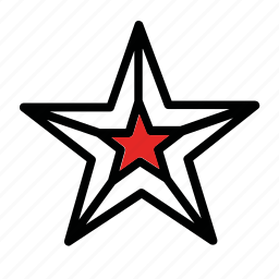 decoration, new year, star, tree, x-mas icon