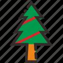 tree, christmas, nature, snow, decoration, santa