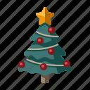 christmas, tree, pine