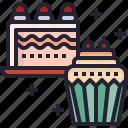 dessert, cup, christmas, sweet, food, cake icon