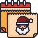 time, calendar, christmas, tree, december, wreath icon