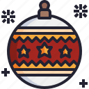 xmas, christmas, bauble, ball, ornament icon