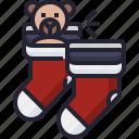 foot, sock, winter, christmas, holiday, warm icon