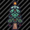 xmas, pine, christmas, decoration, tree icon