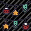 star, garland, christmas, decoration, ball