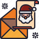 envelope, claus, santa, christmas, card, letter icon