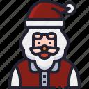 xmas, santa, christmas, father, claus icon
