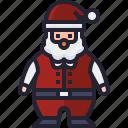 claus, avatar, santa, christmas, user, xmas icon