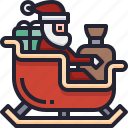 box, sleigh, santa, christmas, gift, sledge, xmas icon
