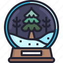 ornament, winter, christmas, tree, snow, ball icon