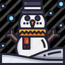 winter, xmas, christmas, snow, holidays, snowman icon
