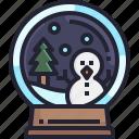 ornament, winter, xmas, christmas, tree, snow, ball