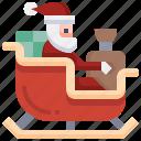 sledge, santa, xmas, gift, sleigh, box, christmas