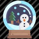 winter, tree, snow, ornament, xmas, ball, christmas