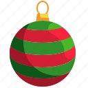 ball, ornament, christmas, baubles, decorations icon