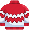 sweater, pullover, winter, christmas, clothing icon