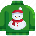 sweater, clothes, pullover, christmas, fashion, snowman