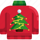 pullover, tree, clothes, christmas, sweater