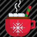 tea, hot, drink, chocolate, christmas, cup