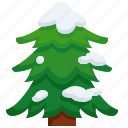 christmas, forest, pine, snow, tree, joshua icon