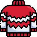 christmas, sweater, clothing, winter, pullover icon
