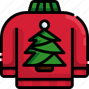 tree, christmas, sweater, pullover, clothes icon
