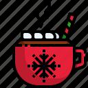 hot, chocolate, drink, tea, christmas, cup