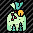 bag, christmas, gift, present, surprise