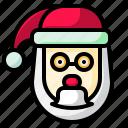 christmas, claus, father, santa, user icon