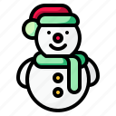 christmas, cold, snow, snowman, winter icon