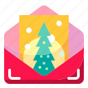 card, christmas, greeting, shapes icon