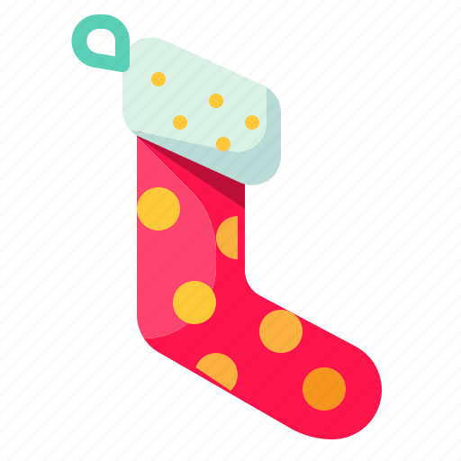 christmas, clothes, garment, sock icon