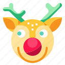 animal, christmas, deer, reindeer, winter icon