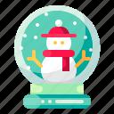 christmas, decoration, globe, snow