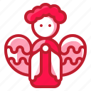 angel, christianity, christmas, wings icon