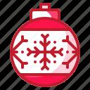 bauble, christmas, decoration, ornament