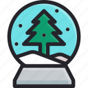 celebration, christmas, decoration, frost, holiday, snowball, winter icon
