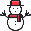celebration, christmas, frost, holiday, seasonal, snow, snowman icon