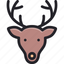 animal, celebration, christmas, deer, holiday, reindeer, winter icon