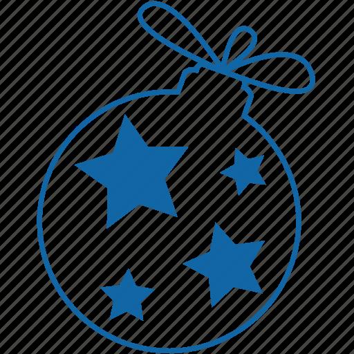 ball, celebration, christmas, christmas ball, new year, stars icon
