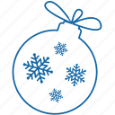 ball, celebration, christmas, christmas ball, new year, snowflakes icon