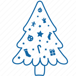 celebration, christmas, decorated, decorated christmas tree, holyday, new year, tree icon