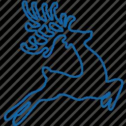 animal, christmas, deer, holyday, new year icon