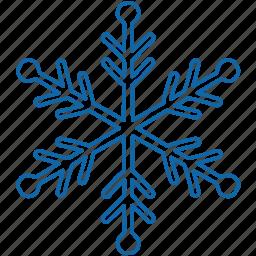 christmas, new year, snow, snowflake, winter icon