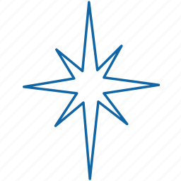 christmas, new year, star icon