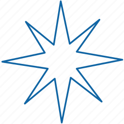 christmas, holyday, new year, star icon