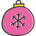 ball, bauble, celebration, christmas, decoration icon