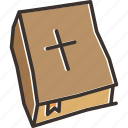 bible, christianity, cross, holy icon