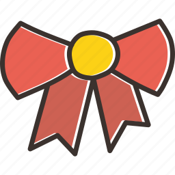 bow, christmas, gift, new year icon